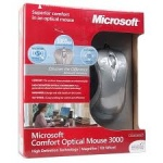 Microsoft Comfort Optical Mouse 3000 PS/2 USB Silver